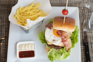burger gros plan